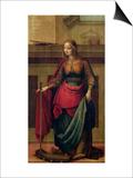 St. Catherine of Alexandria Posters by Fernando Yanez De Almedina