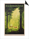 In a German Forest', Poster Advertising Tourism in Germany, C.1935 (Colour Litho) Posters by Jupp Wiertz