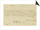 Letter from Mozart to a Freemason, January 1786 Print by Wolfgang Amadeus Mozart