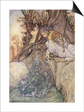 The Enchanted Goblet, c.1908 Poster by Arthur Rackham