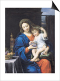 The Virgin of the Grapes, 1640-50 Prints by Pierre Mignard