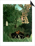 The Monkeys, 1906 Prints by Henri Rousseau