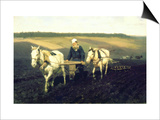 The Writer Lev Nikolaevich Tolstoy Ploughing with Horses, 1889 Posters by Ilya Efimovich Repin
