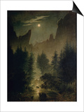 Clearing in the Forest Posters by Caspar David Friedrich