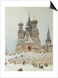 St. Basil's Cathedral, Red Square, Moscow, c.1917 Posters by Nikolay Nikanorovich Dubovskoy