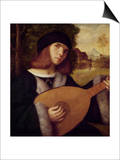 The Lute Player Prints by Giovanni de Busi Cariani