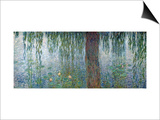 Waterlilies: Morning with Weeping Willows, Detail of the Left Section, 1915-26 Posters by Claude Monet