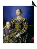 Portrait of Eleanor of Toledo and Her Son, Giovanni de Medici, c.1544-45 Plakat af Agnolo Bronzino