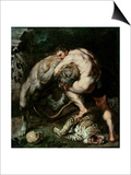 Hercules Fighting the Nemean Lion Print by Peter Paul Rubens