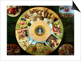 Tabletop of the Seven Deadly Sins and the Four Last Things Kunstdruck von Hieronymus Bosch