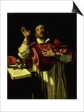 St. Carlo Borromeo, circa 1610 Pósters por Orazio Borgianni