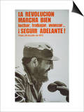 Poster Featuring Fidel Castro, 1975 Obrazy