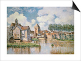 Moret-Sur-Loing, the Porte De Bourgogne, 1891 Prints by Alfred Sisley