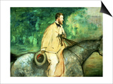 Portrait of Gillaudin on a Horse Prints by Édouard Manet