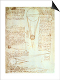 Studies of the Illumination of the Moon, Fol. 1R from Codex Leicester, 1508-1512 Posters by  Leonardo da Vinci