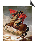 Napoleon Crossing the Alps, circa 1800 Art by Jacques-Louis David