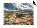Ruined Country, Vimy, British Artists at the Front, Continuation of the Western Front, Nash, 1918 Prints by Paul Nash