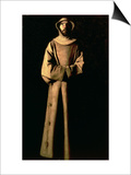 St. Francis of Assisi Poster by Francisco de Zurbarán