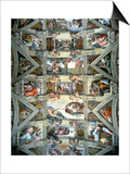 Sistine Chapel Ceiling and Lunettes, 1508-12 Poster by  Michelangelo Buonarroti