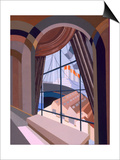 Large Window with a Seat, from 'Relais', C.1920S (Colour Litho) Prints by Edouard Benedictus