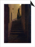 Lady on the Staircase Prints by Caspar David Friedrich