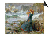 Miranda, 1916 Prints by John William Waterhouse