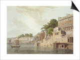 Dusasumade Gaut, Benares, River Ganges, Oriental Scenery: Twenty Four Views in Hindoostan, 1796 Print by Thomas & William Daniell