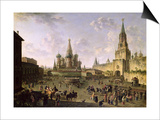 Red Square, Moscow, 1801 Prints by Fedor Yakovlevich Alekseev