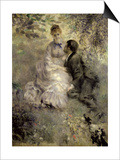 The Lovers, circa 1875 Posters by Pierre-Auguste Renoir
