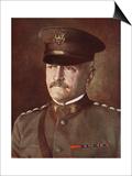 General John Joseph Pershing, 1914-19 Print by Henry Walter Barnett