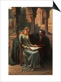 Abelard and His Pupil Heloise, 1882 Poster by Edmund Blair Leighton