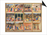 Scenes from the Life of Christ, Panel Three from the Silver Treasury of Santissima Annunziata Prints by  Fra Angelico