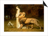 Una and the Lion, from Spenser's Faerie Queene, 1880 Prints by Briton Rivière