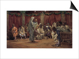Jesus Washing the Disciples' Feet, Illustration for 'The Life of Christ', C.1886-94 Prints by James Tissot