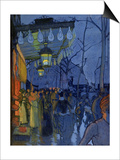 Street Scene, at Five in the Afternoon, 1887 Poster by Louis Anquetin