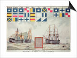 Nelson's Signal at Trafalgar, 1805, 'The Boy's Own Paper' Commemorate Hms Victory, Portsmouth, 1885 Posters by Walter William May