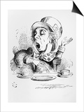 The Mad Hatter, Illustration from Alice's Adventures in Wonderland, by Lewis Carroll, 1865 Posters by John Tenniel