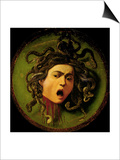 Medusa, Painted on a Leather Jousting Shield, circa 1596-98 Posters by  Caravaggio
