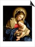 Madonna ja lapsi Poster tekijänä  Giovanni Battista Salvi da Sassoferrato