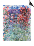 The House at Giverny Under the Roses, 1925 Poster by Claude Monet