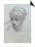Study of a Girl's Head (See also 198346) Prints by Edward Burne-Jones