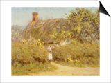 A Surrey Cottage (W/C on Paper) Art by Helen Allingham