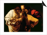 The Incredulity of St. Thomas, 1602-03 Print by  Caravaggio
