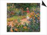 Garden at Giverny, 1895 Print by Claude Monet