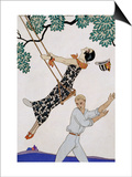 The Swing, 1920S Prints by Georges Barbier