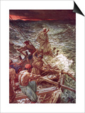 Jesus Stilling the Tempest Prints by William Brassey Hole