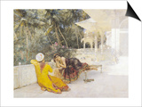 The Princess of Bengal, c.1889 Poster by Edwin Lord Weeks
