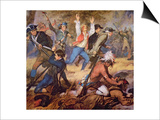 The Massacre of Wyoming Valley in July 1778 Poster by Alonzo Chappel