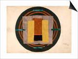 Circular Design for a Rug, 1916 (W/C and Collage on Paper) Posters af Roger Eliot Fry