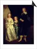 The Children of Thomas Wentworth, 1st Earl of Strafford Kunst von Sir Anthony Van Dyck